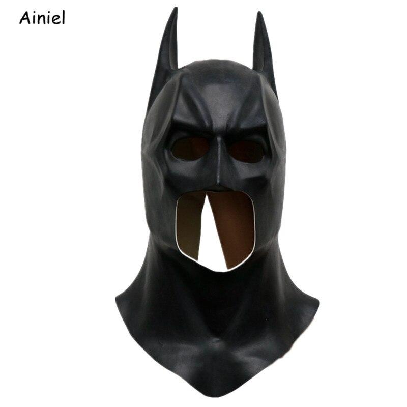 Batman Bruce Way Cosplay Costume Mask Helmet Funny Mask Latex Full Face Apex Ears Superhero Adult Masks Prop Halloween Party Men