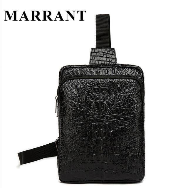 Men Messenger Bags Men Bag Casual Genuine Leather Waist Belt Bags Zipper Chest Pack Men's Leather Shoulder Crossbody Bag Marrant