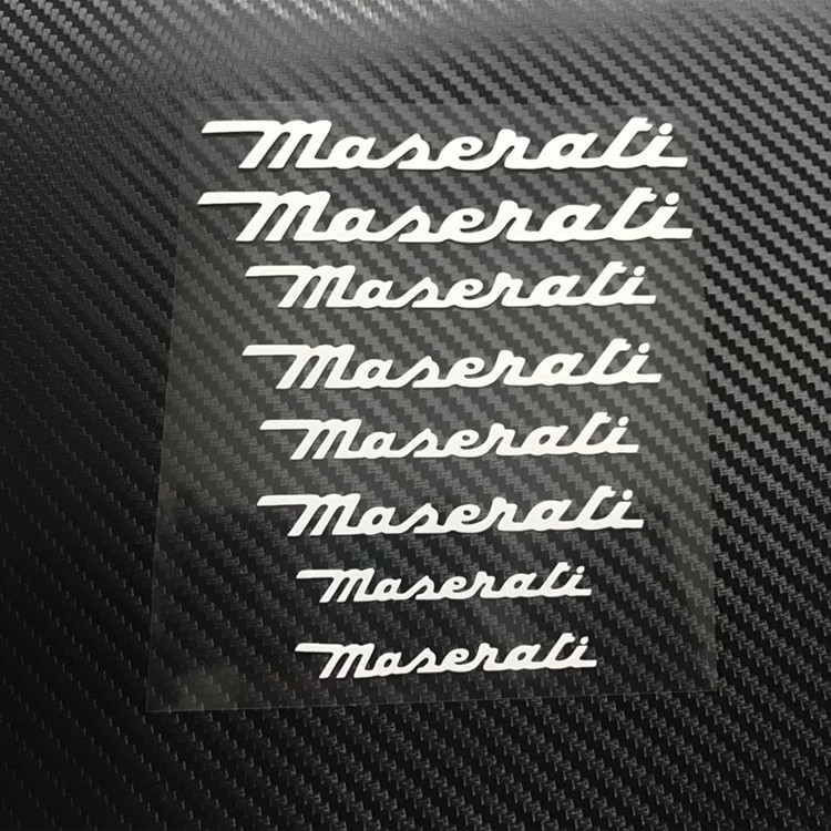 JL Maserat Personalized Wheel brake disc Calipers Vinyl Decal Car Stickers Wrap Reflective Strip and Decals sign Sticker