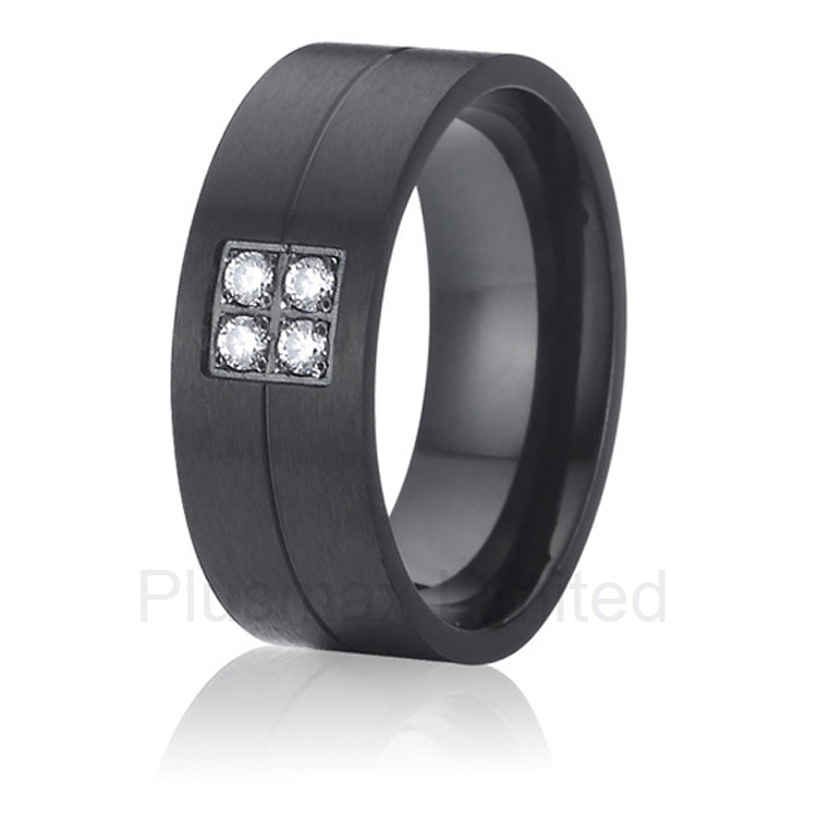 China jewelry factory welcome Global distributor see our black color love cheap pure titanium promise wedding band rings anel de casamento cheap pure titanium satin surface gold color colorful stone cheap pure titanium promise wedding band rings
