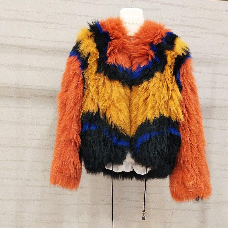 2019 Nova Moda fox Genuine Natural Casacos de Pele De Inverno Mulheres de Slim Casaco de Pele Real De Curto Feminino Jaqueta Senhoras Casaco Mex