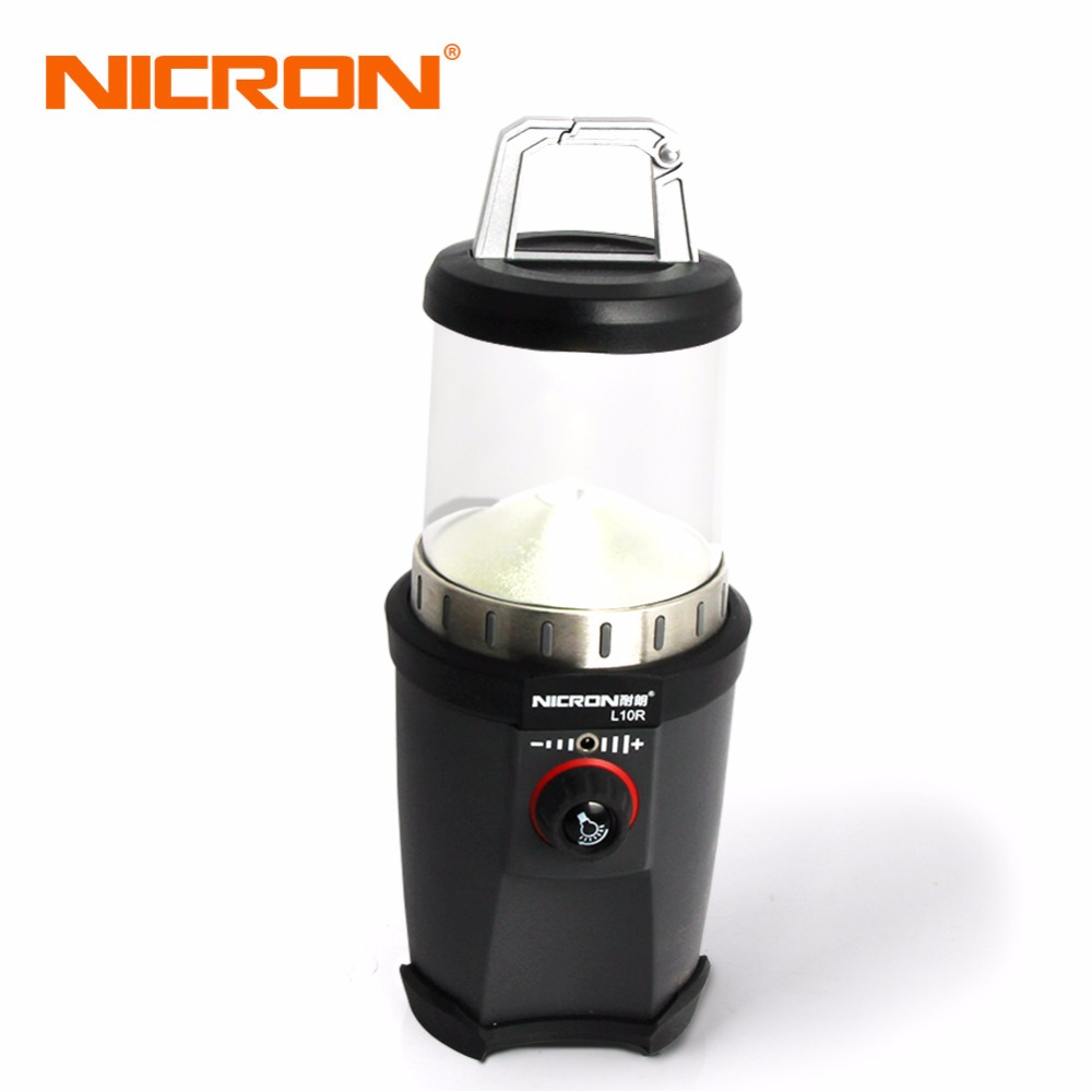 NICRON Super Bright LED Camping Light, Emergency Light, Household Lantern Camping Lantern Tent Lamp Rechargeable Battery L10R nicron super bright led camping light emergency light household lantern camping lantern tent lamp rechargeable battery l10r