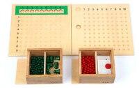 Candice guo! drewniane zabawki edukacyjne Montessori matematyka pomoce dydaktyczne mnożenia/wydział koralik pokładzie