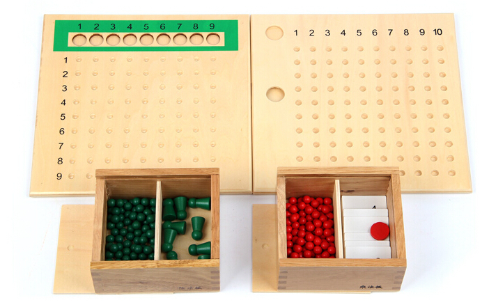 ФОТО candice guo! educational wooden toy Montessori mathematics teaching aids multiplication/division bead board