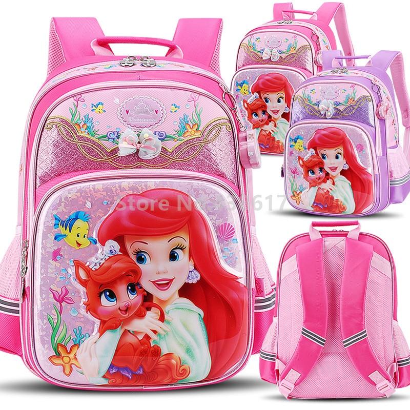 New Little Mermaid Princess Ariel Palace สัตว์เลี้ยงสาวโรงเรียนกระเป๋าเด็กเด็กประถมศึกษาประถมกระเป๋าเป้สะพายหลังหนังสือโรงเรียนกระเป๋า-ใน กระเป๋านักเรียน จาก สัมภาระและกระเป๋า บน AliExpress - 11.11_สิบเอ็ด สิบเอ็ดวันคนโสด 1