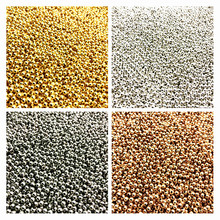 500/200/50pcs 2/4/6mm Gold/Silver/Bronze Tone Metal Beads Smooth Ball Spacer For Jewelry Making
