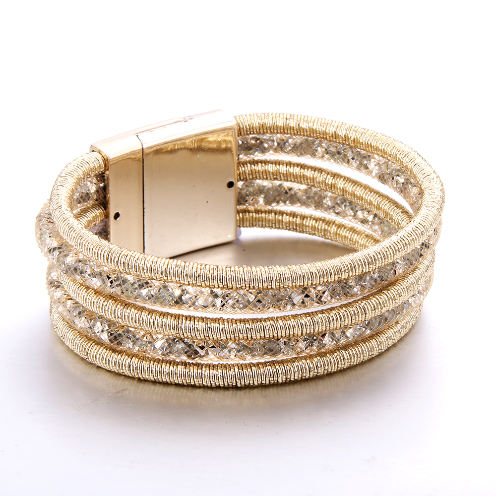 Fashion Rhinestone Bracelet Magnet Bracelet 7 colors Optional Multilayer Bracelets Jewelry for Women Charm Jewelry for Women