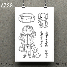 AZSG My beautiful family Clear Stamps/seal for DIY Scrapbooking/Card Making/Photo Album Decoration Supplies