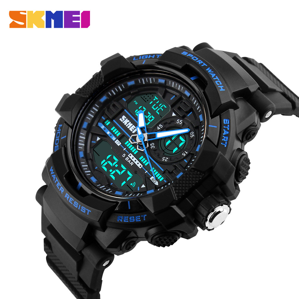 2016 fashion outdoor sport watches man electronic digital analog silicone watch waterproof for Watches digital