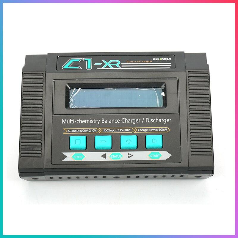 EV PEAK C1 XR używane AC równowagi Lipo Ni mh ładowarka do samochodu RC 100 240 V wejście 100 W Lipo Ni mh ładowarka w Części i akcesoria od Zabawki i hobby na  Grupa 1