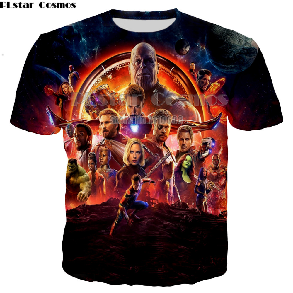 PLstar Cosmos New style Avengers Infinity War Men   T     Shirts   3D Anime Fashion   T  -  shirt   Mens cool Clothing Superhero   Shirt