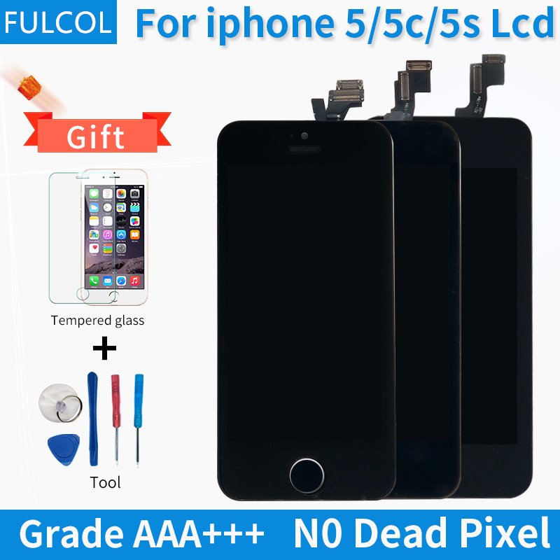 Grade AAA For iPhone 5S 5C 5S LCD Display Touch Screen Digitizer Full Assembly Replacement No dead pixels For iPhone 5C 5 5S LCD