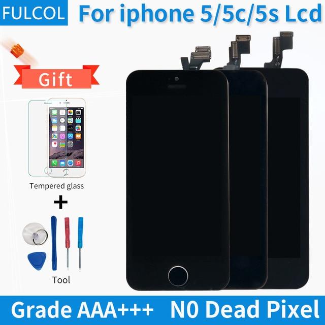 3f0ab9b50c0 Grado AAA para iPhone 5S 5C 5 pantalla LCD pantalla táctil digitizador  reemplazo completo de la