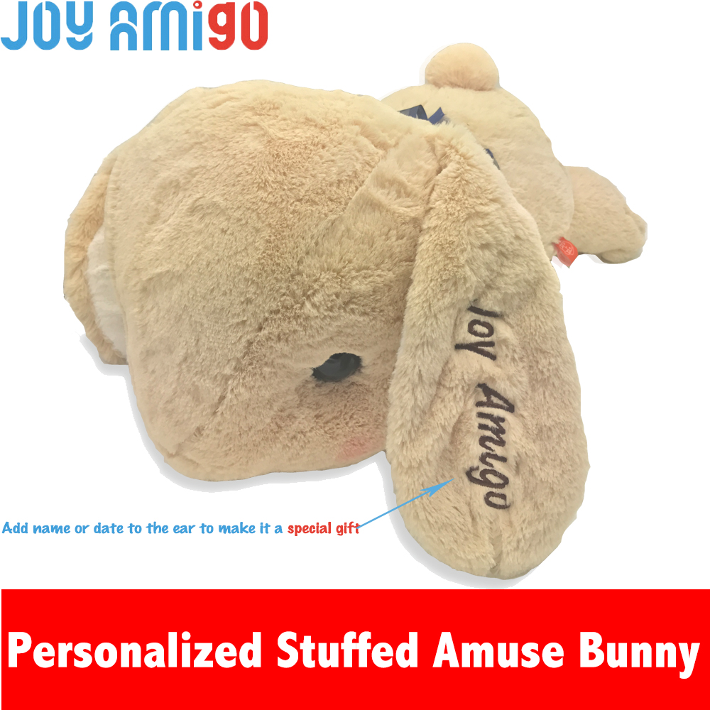 Personalized Monogrammed Soft Amuse Bunny With The Name Letter Embroidered On Ear Stuffed Animal Teddy Toy Special Gift For Kids юбка amuse бежевый