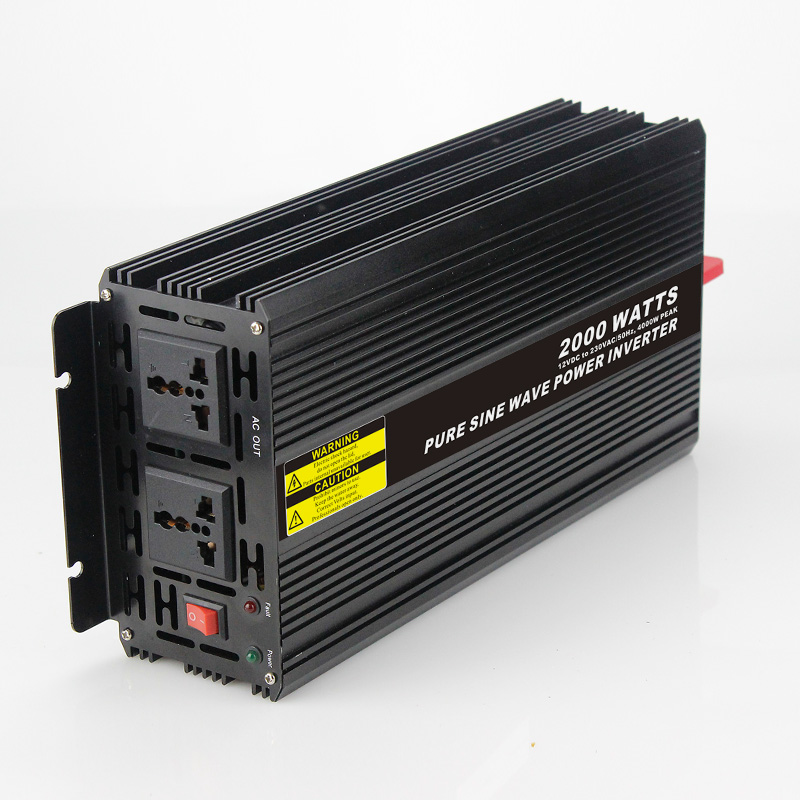 Long lifetime 2000W Car Power Inverter Converter DC 24V to AC 110V or 220V Pure Sine Wave Peak 4000W Power Solar inverters