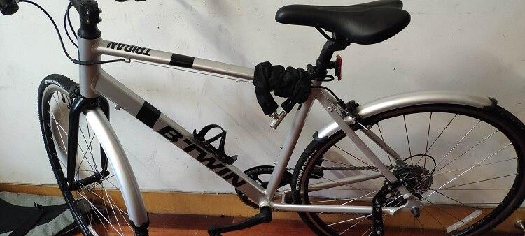 Para-choque traseiro de bicicleta, equipamento fixo retrô,