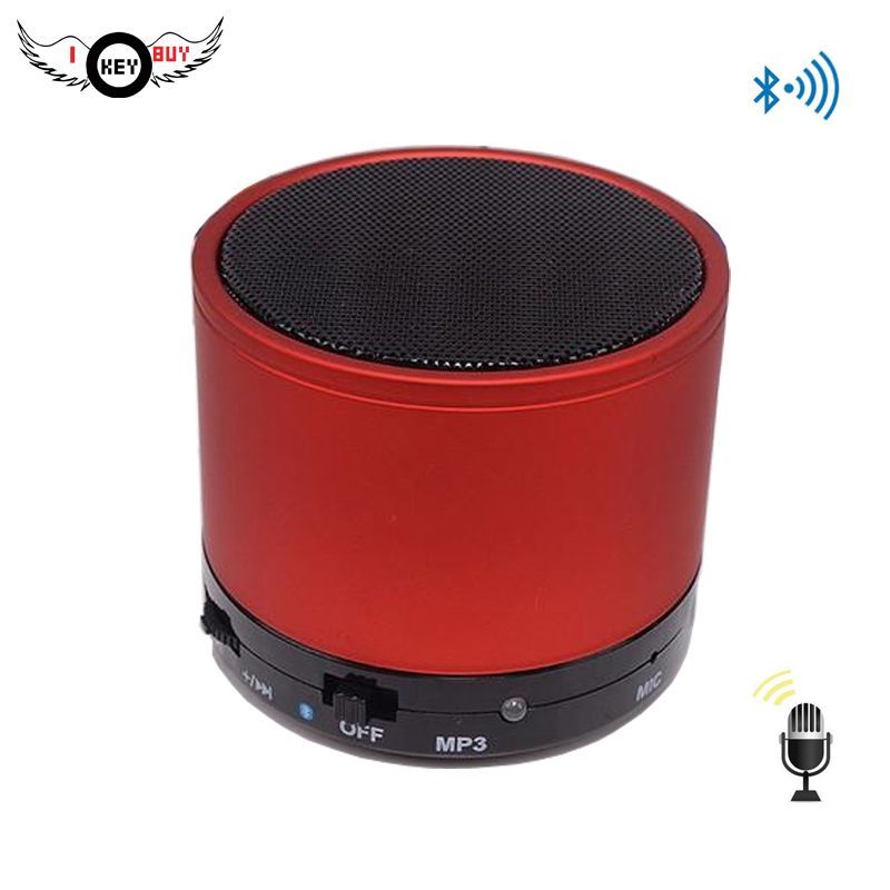 1PC Wireless Mini Bluetooth Speaker Stereo MP3 Card Player FM Radio 520 Milliamperes Button image
