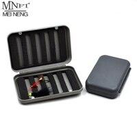 MNFT-caja de almacenamiento portátil para pesca con mosca, caja de almacenamiento para pesca en seco/mojado/Ninfa, hendidura de plástico, espuma, moscas para pesca con mosca, cajas de señuelos de talla L/S, 1 Uds.