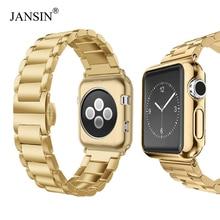 bb16b5ad0b1 Cinta de Aço Inoxidável de luxo + caso Para apple watch 38 42 40 44mm mm