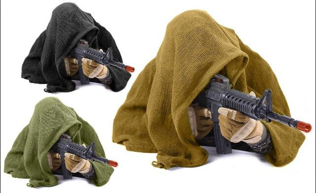 190*90cm Cotton Military Camouflage Tactical Mesh Scarf Sniper Face Veil Camping Hunting Multi Purpose Hiking Scarve 1