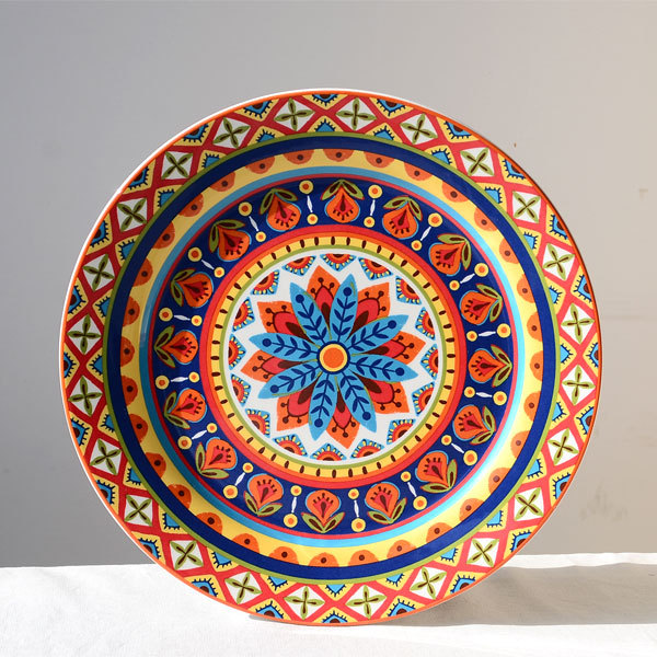 Jiangnan life | Ceramics | 11 inch Western dish | dish do decorative plate hanging plate retro Spanish style-in Dishes u0026 Plates from Home u0026 Garden on ... & Jiangnan life | Ceramics | 11 inch Western dish | dish do decorative ...