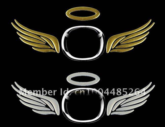 оптовая пвх 3д крыло забавный автомобиль отличительные знаки наклейки золото серебро красный бампер наклейки стайлинга автомобилей