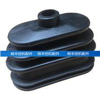 Accessoires de pelle Daewoo Doosan DH55 60 80-7, tige de poussée de marche, poignée de levier de bulldozer, manchon anti-poussière en caoutchouc