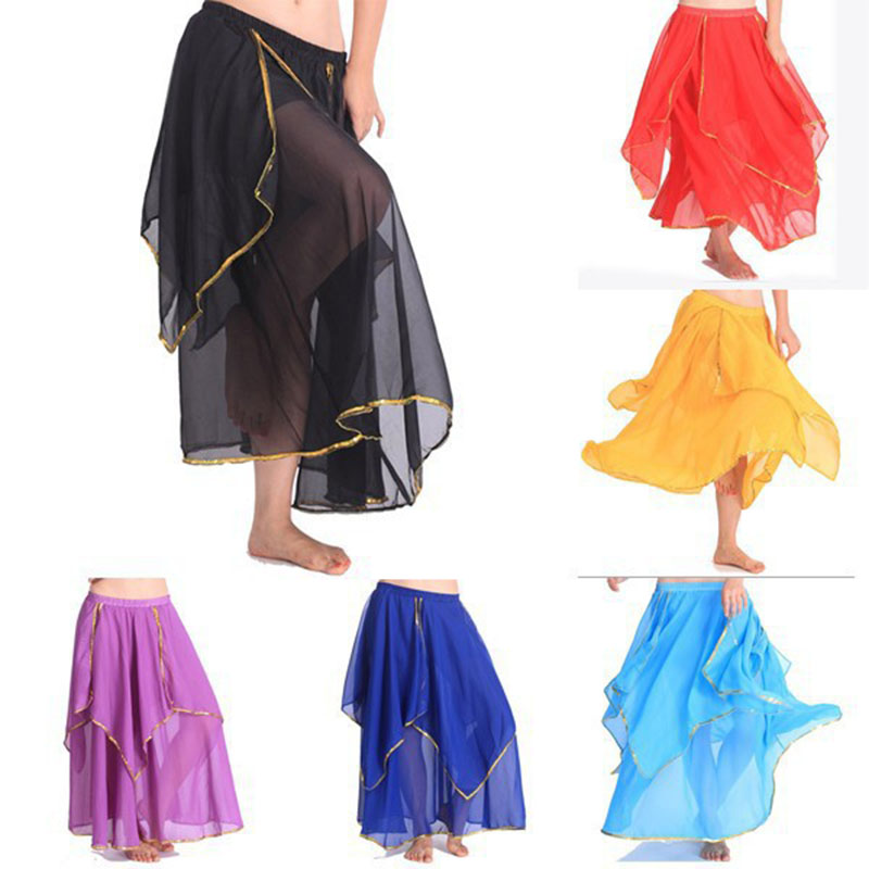 2018 Wholesale New Women Cheap Belly Dance Skirt Chiffon Dancing Costume For Sale