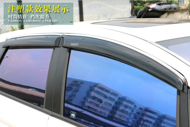 For Honda Fit/Jazz 2014+ Window Visor Vent  Sun/Rain High Quality Acrylic Plastic
