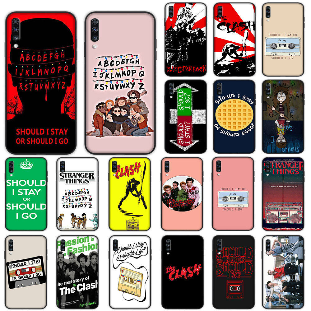 Should Stay or Should I Go Soft Case for Samsung Galaxy A5 A6 A7 A8 A9 Plus A10 A20 A30 A40 A50 A60 A70 M40 Cover