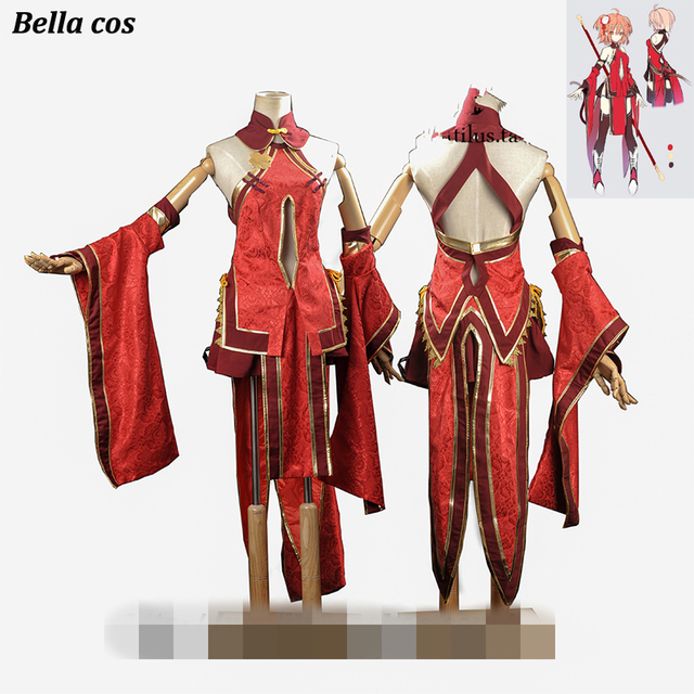 9860ff9c56e Custom size Fate Grand Order Gudako cosplay costume red cheongsam woman  sexy dress Anime clothes outfitscos