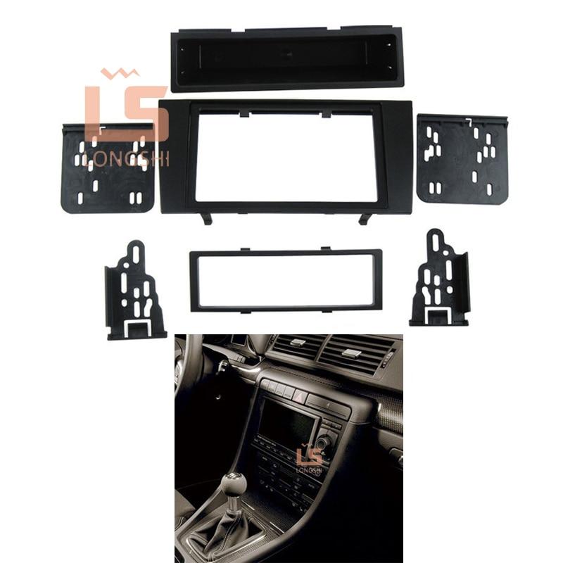 цена на Car refitting DVD frame,DVD panel,Dash Kit,Fascia,Radio Frame,Audio frame for 2000-2004 Audi A4 ,2DIN 173*98MM