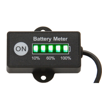 Battery Meter 12V 24V Battery Tester indicator for car motorcycle e bike pit bike golf cart moped marine jet ski ATV