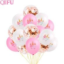 d8a267bce QIFU Unicornio fiesta cumpleaños decoración Unicornio decoración fiesta  decoraciones de la ducha de bebé niña Unicornio