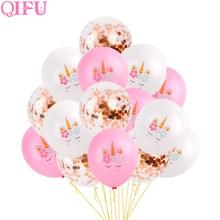 QIFU Unicornio fiesta suministros Unicornio cumpleaños decoraciones Unicornio decoración Unicornio fiesta decoraciones bebé ducha chica Unicornio