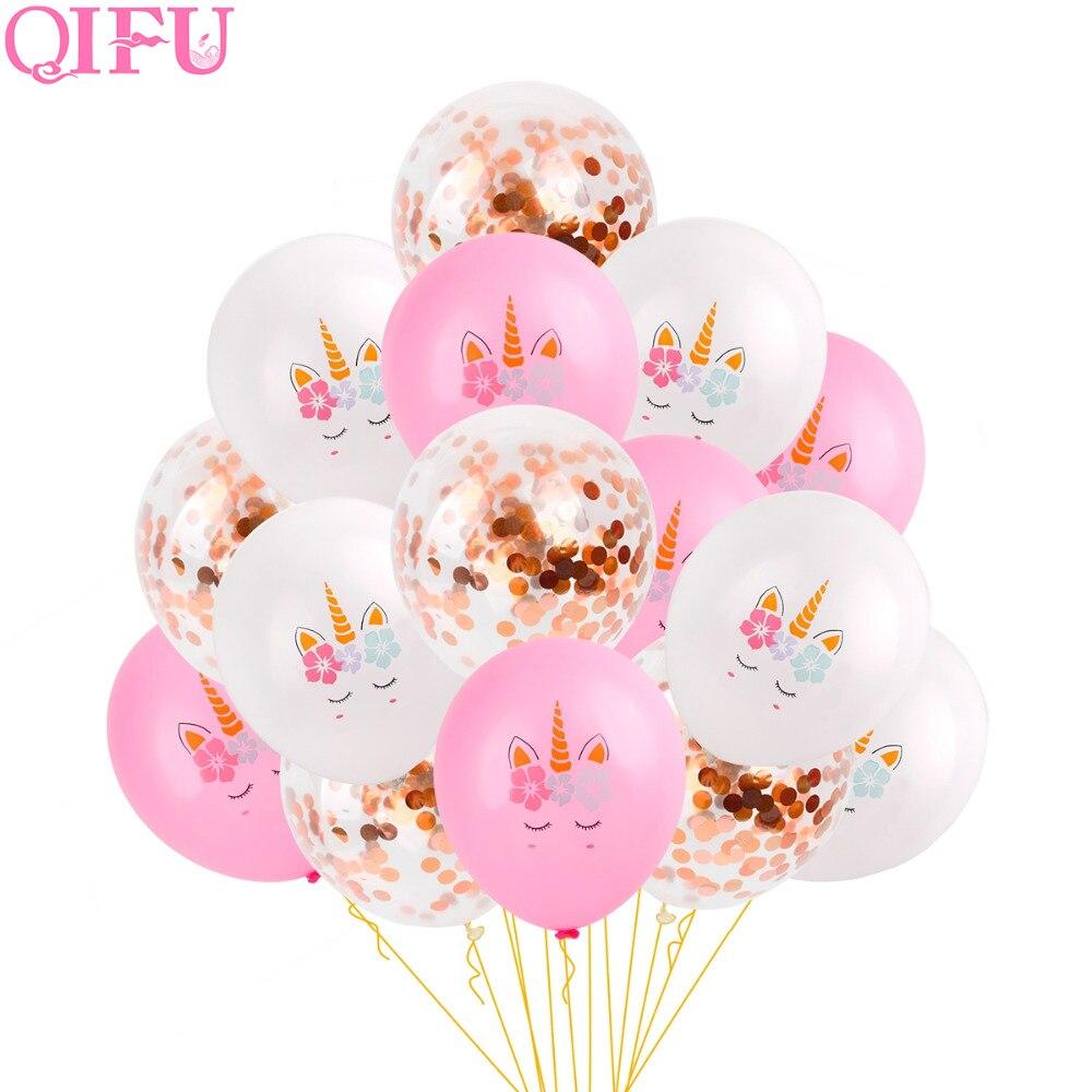 QIFU Unicorno Rifornimenti Del Partito Di Compleanno Unicorno Decorazioni Decorazione Unicorno Unicorno Decorazioni Del Partito Del Bambino Doccia Ragazza Unicornio