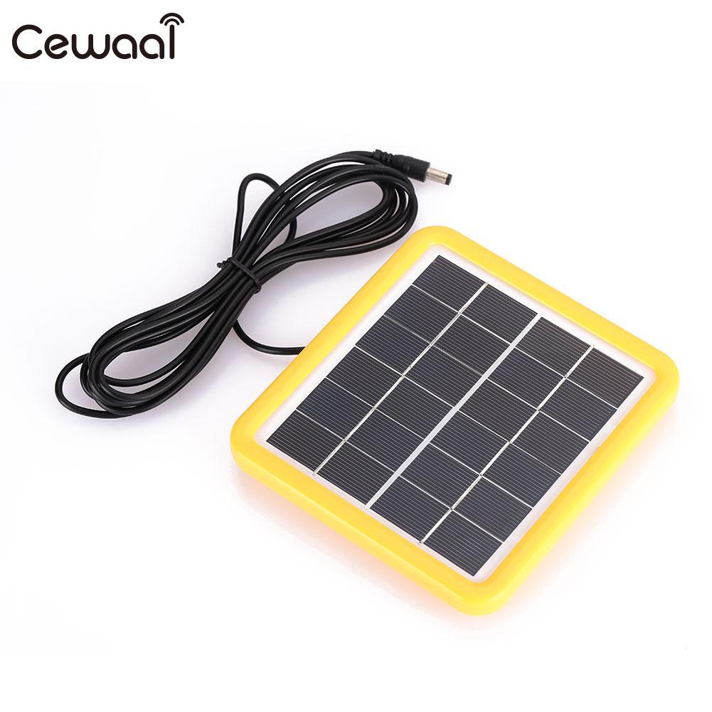 Cewaal Солнечная Changer Кемпинг 6V2W Солнечный Батарея Портативный путешествия Панели солнечные модуль Солнечный свет