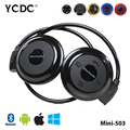 Mini-503 Hot Pure Stereo Sound Sports Neckband Folded Bluetooth Headset Headphone Support TF Music Play