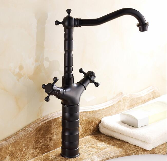 Hot sale Double Handle Bathroom black Basin Mixer Tap Hot and Cold water sink faucets washbasin taps top qualityHot sale Double Handle Bathroom black Basin Mixer Tap Hot and Cold water sink faucets washbasin taps top quality