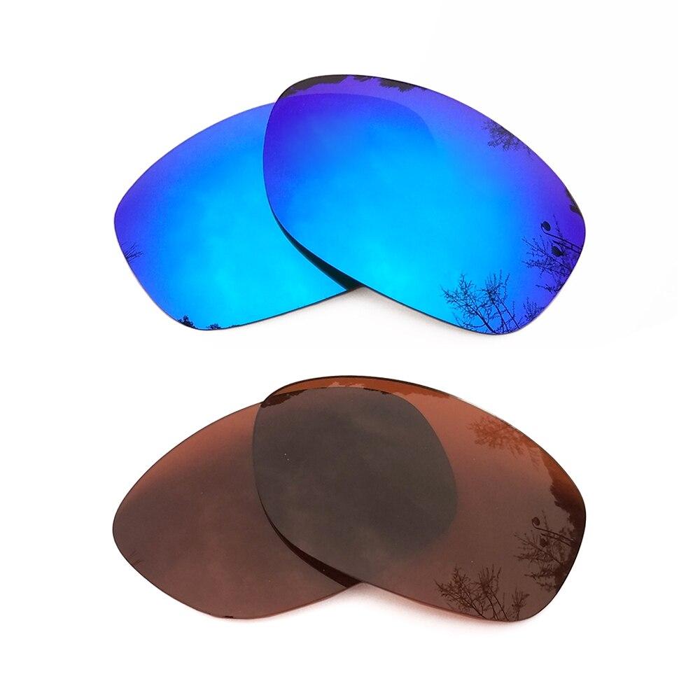 Голубой лед зеркальные и коричневый Поляризованные замены линзы для Pit Bull кадра 100% UVA и UVB
