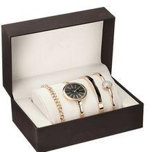 Famosa marca de diseño de lujo a prueba de agua reloj de Oro Relojes de cuarzo con Correa De Aleación Fina Mujeres Visten el Reloj de Pulsera de los sistemas