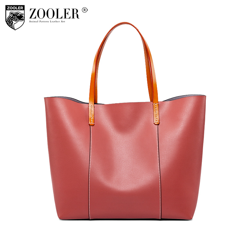 sales&top quality ZOOLER 2018 NEW genuine leather bag handbags famous brand bolsa feminina luxury woman bags large capacity#B232 new zooler woman leather bags stars pattern luxury handbags bags woman famous brand designer shoulder bag bolsa feminina p113