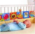 FRETE GRÁTIS multifuncional cama divertimento em torno de multi-colorido brinquedo do bebê livros de pano do bebê bumper cama 92*14 CM