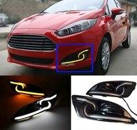 High Quality Waterproof 12V LED DRL Daytime Running Fog Turn Signal Light Lamp For Ford Fiesta