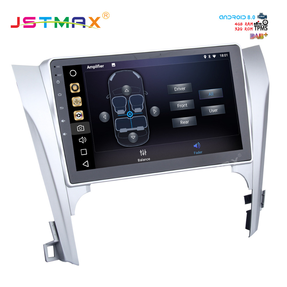 "Sale JSTMAX 10.2"" Android 8.0 car dvd radio player for Toyota Camry 2012 2013 2014 gps navi Octa Core 4GB 32GB Auto Stereo(NO dvd) 1"