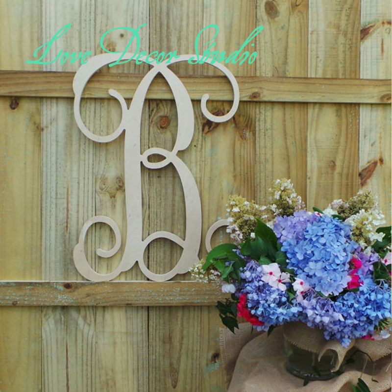 free shipping 19 vine script letter pvc letters wedding guest book personalized door hanger