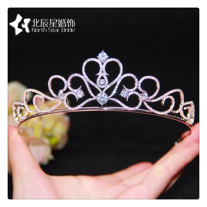New fashion micro-mosaic All Zircon crown bride headdress crown wedding hair ornaments birthday crown crown crown xti1002