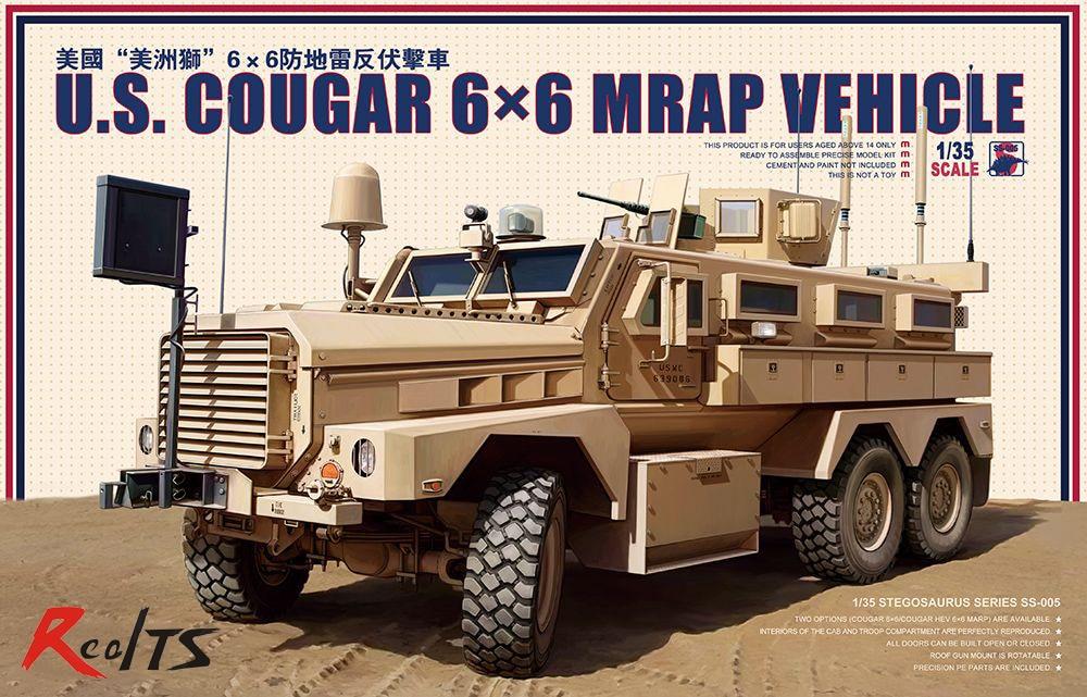 Meng Model 1 35 MG SS 005 U S Cougar 6x6 MRAP Vehicle plastic model kit