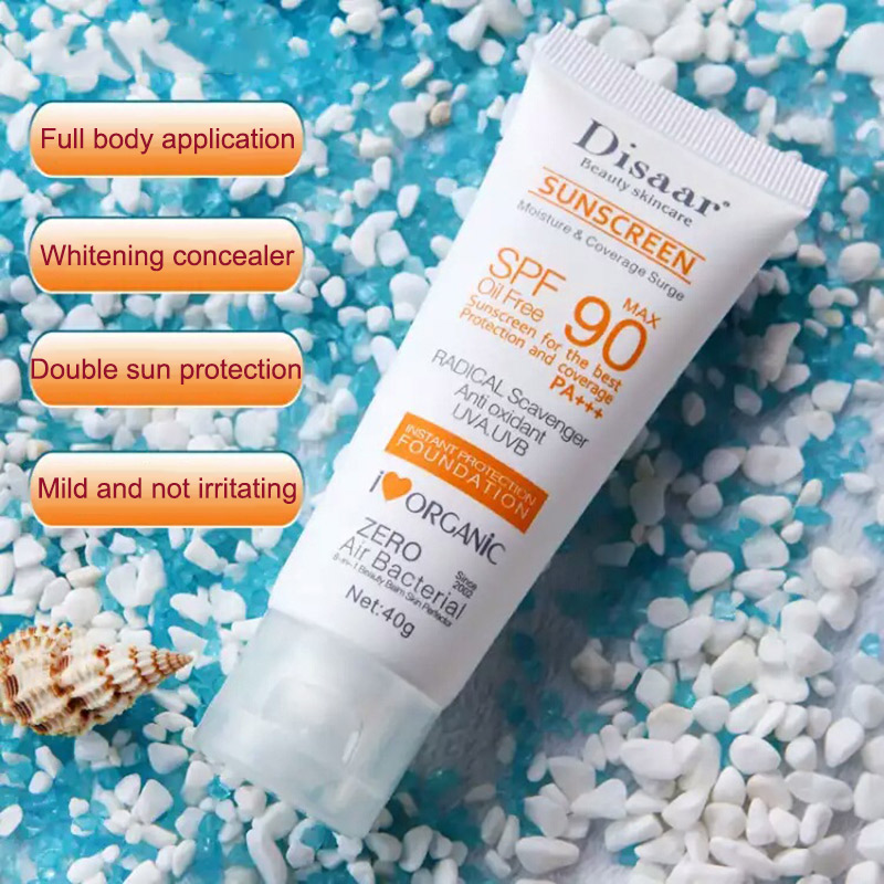 Sunblock Whiten Cream Waterproof Long Lasting Face Body Skin SPF90 Sunscreen @ME88