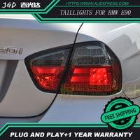 Стайлинга автомобилей задние фонари для bmw e90 задние фонари светодиодные Задний фонарь задний багажник крышка лампы DRL + сигнала + Тормозная +
